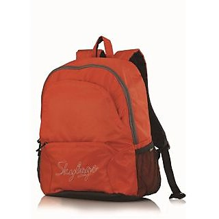 Skybags PULSE-01 Orange Pvc Coated Diamond Rip-Stop Backpack