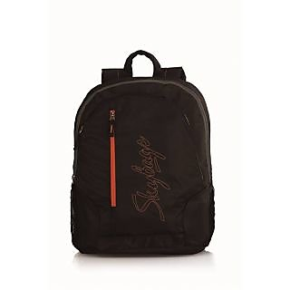 Skybags PULSE-03 Black Pvc Coated Diamond Rip-Stop Backpack