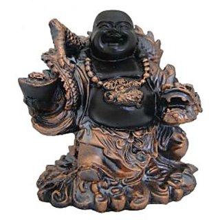 Divya Mantra Feng Shui 6 Inches Antique Finish Laughing Buddha