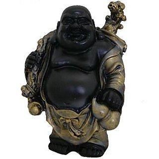 Divya Mantra Feng Shui Premium 5 Inches Laughing Buddha Antique Finish