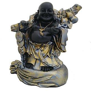 Divya Mantra Feng Shui 9 Inches Antique Finish Laughing Buddha-Dvym0001233
