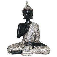 Divya Buddha Statue Beautiful Black & Silver Finish