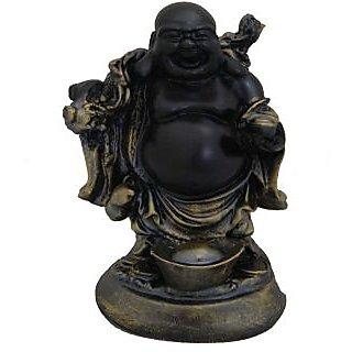 Divya Mantra Feng Shui 6 Inches Antique Finish Laughing Buddha-Dvym0001317