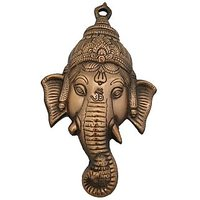 Ganesha Face Wall Decorative Antique Copper Finish