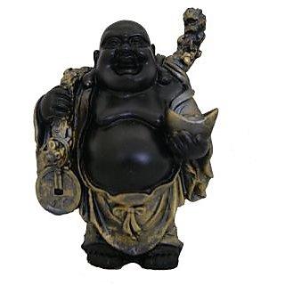 Divya Mantra Feng Shui 5 Inches Antique Finish Laughing Buddha-Dvym0001336