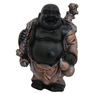 Divya Mantra Feng Shui 5 Inches Antique Finish Laughing Buddha-Dvym0001333