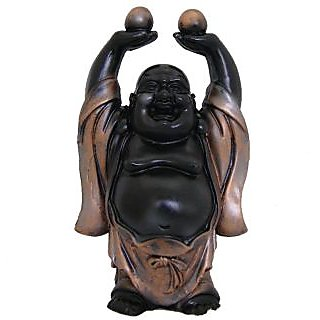 Divya Mantra Feng Shui Premium 6 Inches Laughing Buddha Antique Finish