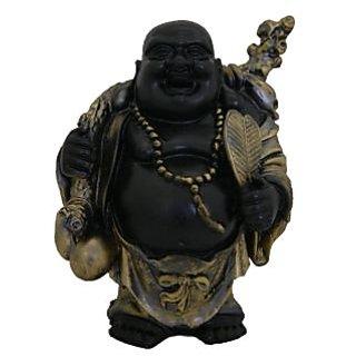 Divya Mantra Feng Shui 5 Inches Antique Finish Laughing Buddha-Dvym0001337
