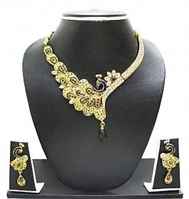 Zaveri Pearls Peacock Pattern Jewel Set
