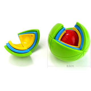 Cute Sunlight 3-D Spherical Puzzle Ball Multicolor