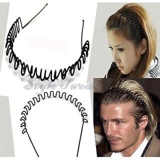 Unisex ZigZag Wave Hairband Headband - Set of 5 7c0b4b60feb