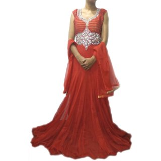 DESIGNER LONG RED GOWN 8106/40