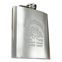 jim beam hip flask stainless steel 8oz high quality