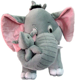 Tickles Mother Elephant With 2 Babies Soft Toy - 38 cm