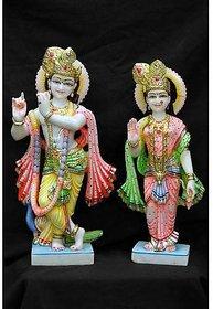 Marble Radha Krishna Portrait