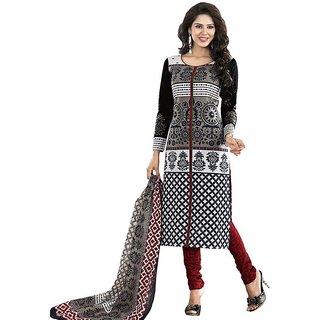 Black New Stylish Pure Cotton Dress (Unstitched)