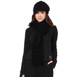 Femella Black Woolen Scarve