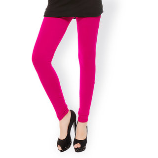 FUCHSIA PINK COTTON COLOR LYCRA SOFT QUALITY LEGGING - XL SIZE