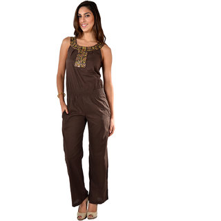 Brown Uptown Jumpsuit