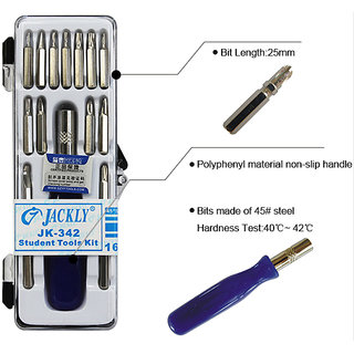 Jackly Portable Screwdriver Set 16 Pc (Steel)