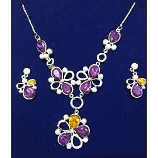 Sanskruti beautifully designed purple necklace set