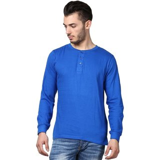 Inkovy Men's Button Front Cotton Henleys