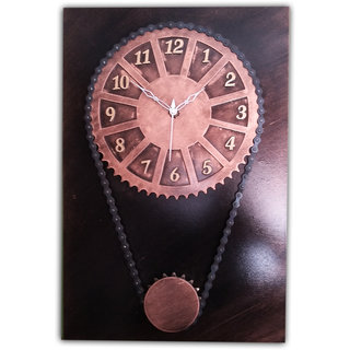 Chain and Gear Wall Clock