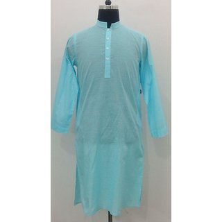 100% Fine Cotton Men's Kurta -SlimFit