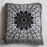 JBG Home Store Velvetee Foral Design Black Cushion Covers ( Set Of 5)