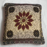 JBG Home Store Velvetee Center Flower Design Cushion Covers ( Set Of 5) - Design 1