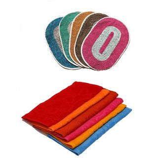 Combo -6 Face towel 3 Bath mat