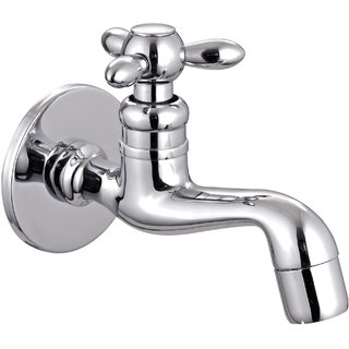 Taptree Tristar Brass Long Body with Wall Flange