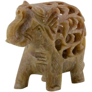 Freshings Gaurara Carved Trunk Up Elephant (F-GE-2)
