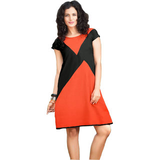 vastram lastest polyster Orange  Kurtis