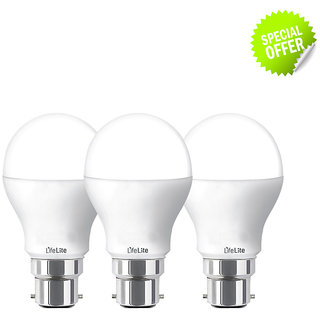 lifelite led bulb 5W with B-22 base, pack of 3 bulb