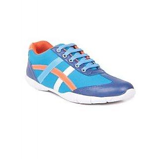 TEN Blue Fabric Casuals Shoes TENSSHOJCRSAQA01