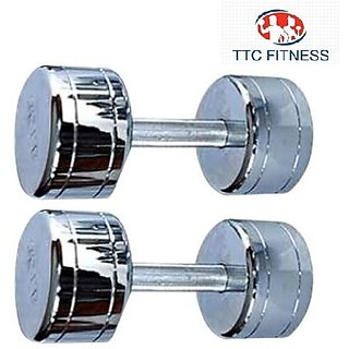 TTC FITNESS STEEL DUMBELL 8KG(4 KG EACH)