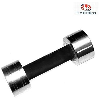 TTC FITNESS STEEL DUMBELL WITH GRIP 10KG(5 KG EACH)