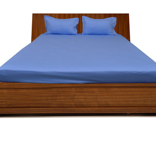Smooth Cotton 500 Tc Double Solid Bed Sheet (SLD3BS065500)