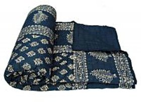 Krg Enterprises World Famous Golden Print Jaipuri Double Bed Cotton Razai
