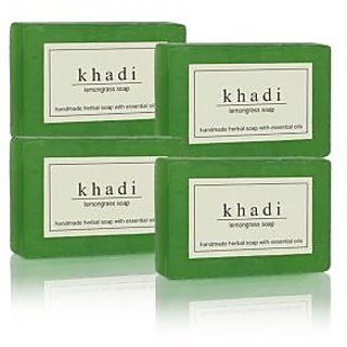 Khadi Natural Herbal Lemongrass Soap - 125g (Set of 4)
