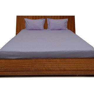 Smooth Cotton 500 Tc Large Stripe Bed Sheet (STL3BS142500)