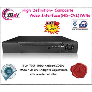 16CH HDCVI DVR (Support Analog, CVI  IP Cameras)