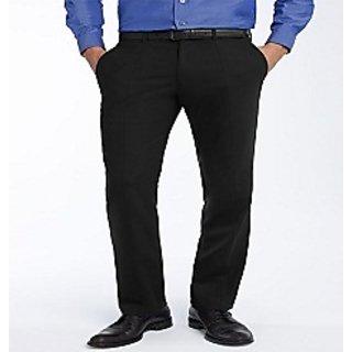 Men's Viscose Formal Trousers Black