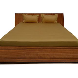 Phenomenal Smooth cotton 600 TC Double Solid bed sheet