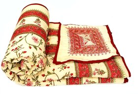 Krg Enterprises Famous Jaipuri Double Bed Cotton Razai / Quilt