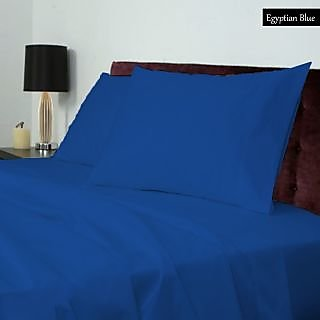 Astounding Smooth cotton 600 TC Large Solid bed sheet