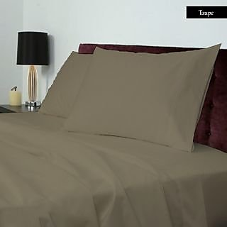 Fabulous Smooth cotton 600 TC Large Solid bed sheet