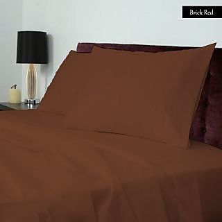 Smooth Cotton 600 TC Large Solid Bed Sheet (SLL3BS105600)