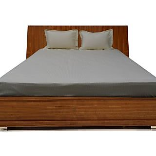 Smooth Cotton 600 TC Double Stipe Bed Sheet (STD3BS85600)